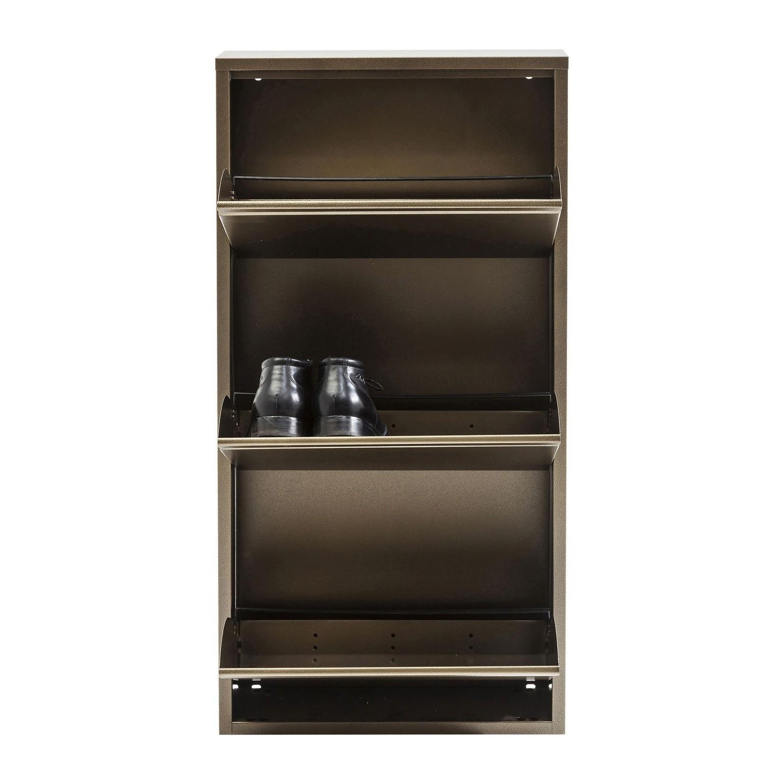 Soldes Kare Design Maison > Rangement > Rangements à chaussures Casier à Chaussure Caruso bronze ...